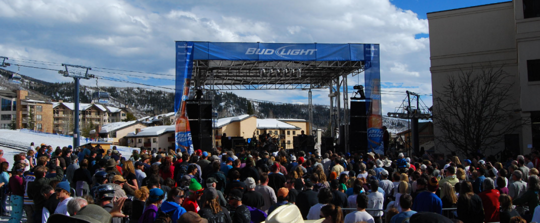 picture of a bud light concert series live event where we provided services